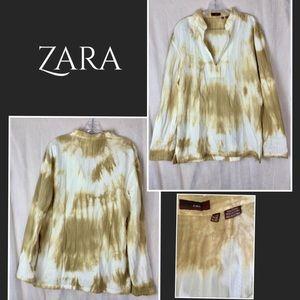 Zara the-dyed cotton tunic Sz Xl